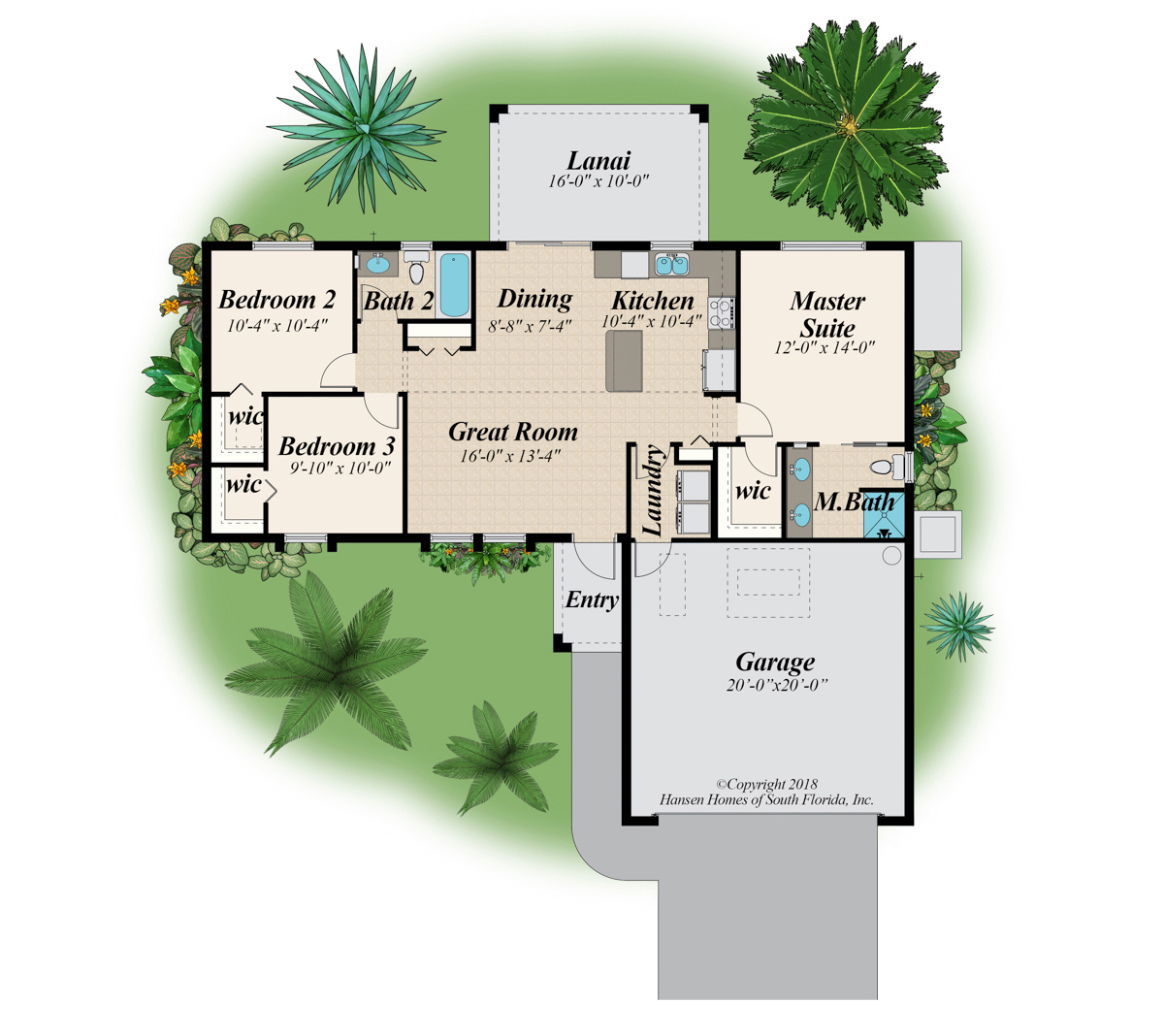 The Bayshore Home Plan Floor Plans